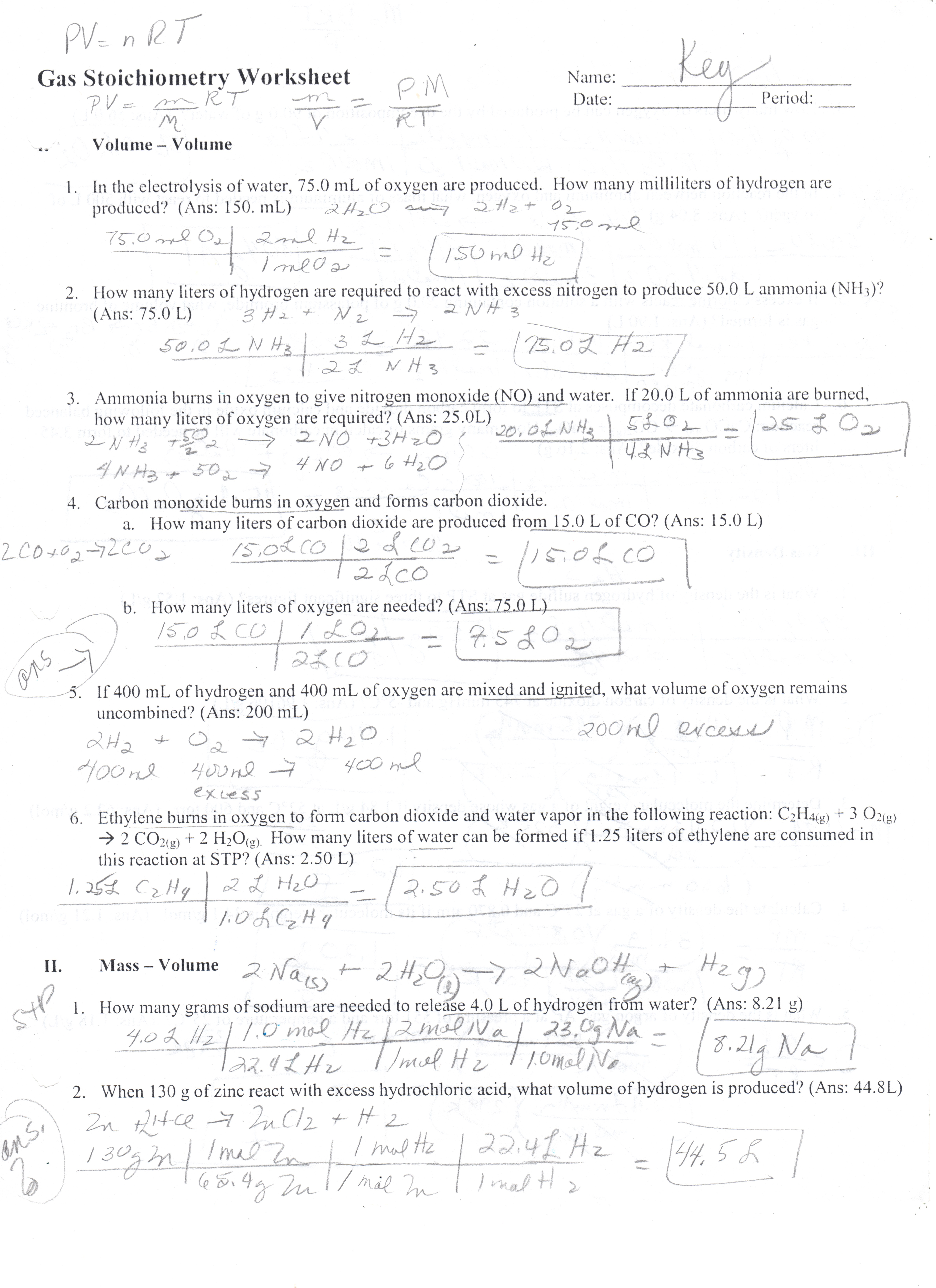 Worksheets Molarity Problems Worksheet unit 4 solutions gas stoichiometry